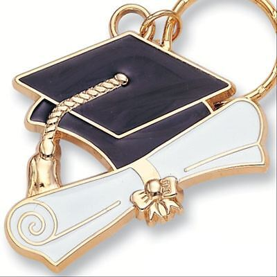 Enameled Graduation Cap & Diploma Key Chain / Keychain - Great Gift !