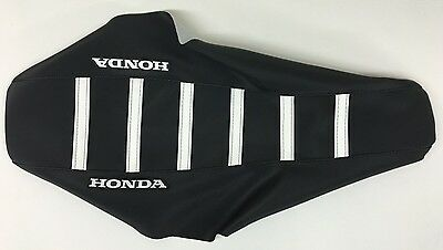 New Honda white Ribbed Seat cover CR125R CR125 CR250R CR250 2000-2008