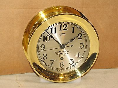 "Seth Thomas U.s. Navy Deck Clock #2 ~6"" Dial~Ww2 1946~Chelsea Key"