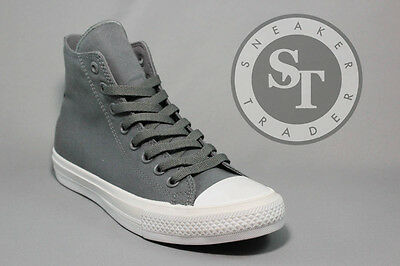 f1abcbfc0f4b Converse Chuck Taylor 2 Ct Ii Hi 150147C All Star Thunder Grey White Ds Sz