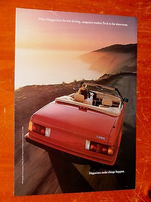 1988 Maserati Spyder / Bi Turbo Convertible For Magazines Ad - Vintage 80S