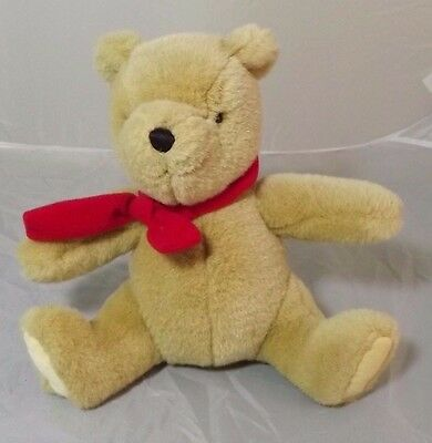 Gund Classic Winnie The Pooh Plush With Red Bow About 20cm Tall