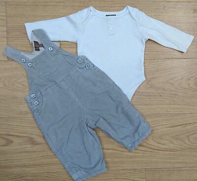 Miniclub Baby Boys Bundle Age 0-3 Months Bodysuit Dungaree