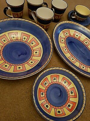 Assorted Living Art 'Archaic' Hand Painted China. Designed in Australia