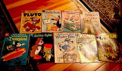 lot of 9 old comic books Silver Age