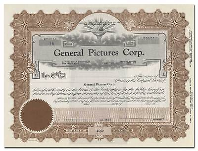General Pictures Corp. Stock Certificate