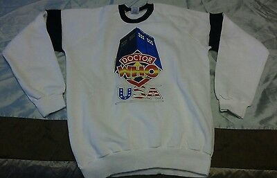Doctor Who USA TARDIS Classic Sweatshirt DWAS NEW OOP Size L SUPER RARE!
