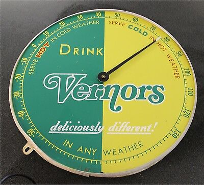 Vernor's Vintage Soda Round Advertising Thermometer As Is No Glass But Nice