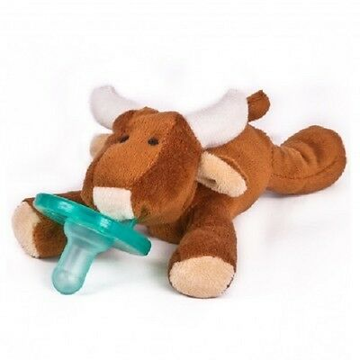 NEW~WubbaNub Silicone Soothie Pacifier~Plush~Baby~0-6 Months~Longhorn Bull