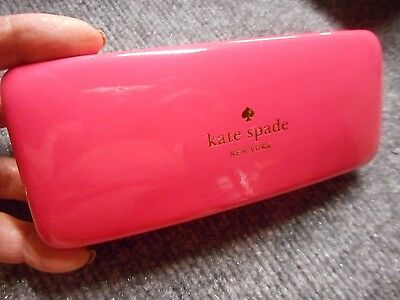 Kate Spade New York Pink Orange Hard Eyeglasses Sunglasses Case Holder Eye Glass