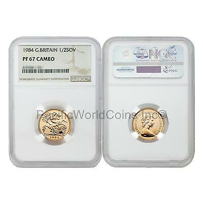 Great Britain 1984 1/2 Sovereign Gold NGC PF67 ULTRA CAMEO