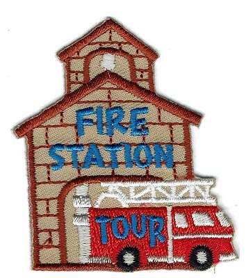 Girl Boy Cub FIRE STATION TOUR Fun Patches Crests Badges SCOUTS GUIDE Department