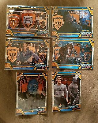 2017 UD Guardians of the Galaxy Vol.2 (6 card) SP Bronze Foil LOT All Different!
