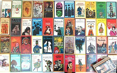 Vintage Signet Classics Book Lot (45) 1960s/Early 70s Great Cover Art Paperback