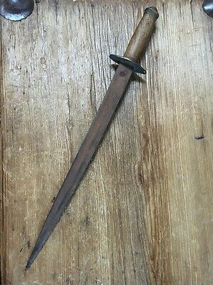 "Antique 20"" Mexican Dagger Probably Made From Cut Down Sword"