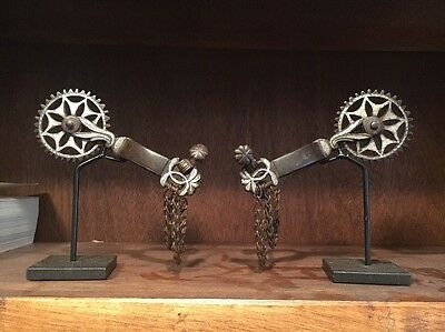 Beautiful Spanish Colonial Mexican California Antique Spurs