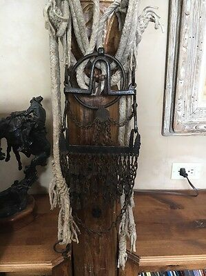 Beautiful Antique Southern Plains Bit With Danglers Spanish Colonial Navajo