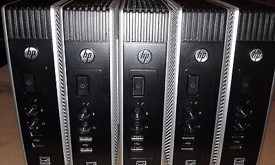 Lot of 5 HP T510 ThinClient 1GHz 2GB RAM 16GB Flash WES7 with  Adapter & Stand