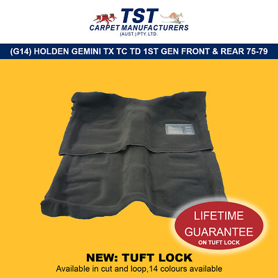 Moulded Car Carpets (G14) Holden Gemini Tx Tc Td 1St Gen Front & Rear 75-79
