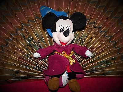 "Walt Disney 11"" Tall Sorcerer Mickey Mouse Bean Bag Plush Doll from Disney World"