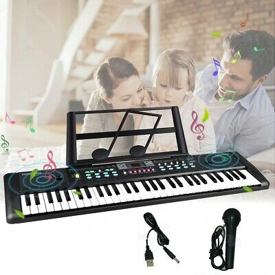 61 Keys Kids Electronic keyboard Electric Piano with USB MP3 Function Microphone
