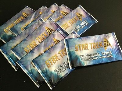 LOT of 10 Sealed Packs 2016 Star Trek TOS 50th Anniversary Cards Autographs?