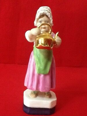 """Royal Worcester """"POLLY PUT THE KETTLE ON"""" Vintage -1940-1983 Mint"""
