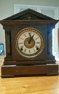 antique E.N Welch mantle clock wind up