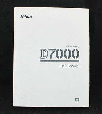 Nikon D7000 Digital Camera User's Manual / Book, English - New
