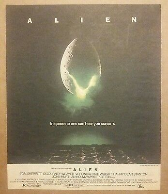 1979 Alien Promo Movie Ad Skerritt, Weaver