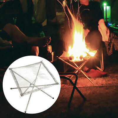 Portable Unique Stainless Steel Outdoor Bonfire Stand Stove Mesh Sheet UC913