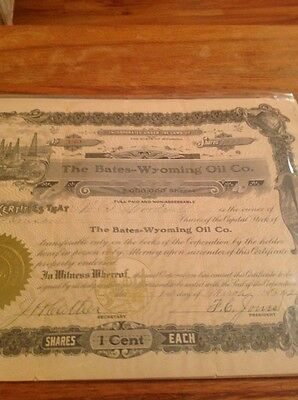 Mixed Lot of Antique Oil Stock Certificates - 3 Different Stocks