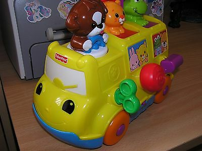 Fisher-Price Musical Pop-Up Bus Toy