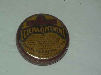 Vintage Dr Hobson's Eczema Ointment Tin Pfeiffer Chemical Co St Louis