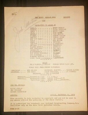 Henry Morgan Radio Show Original Scripts (Rare) Belonged To Jack Albertson