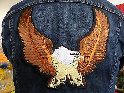 GRAND ECUSSON PATCH THERMOCOLLANT/ AIGLE biker country trike western cow boy usa