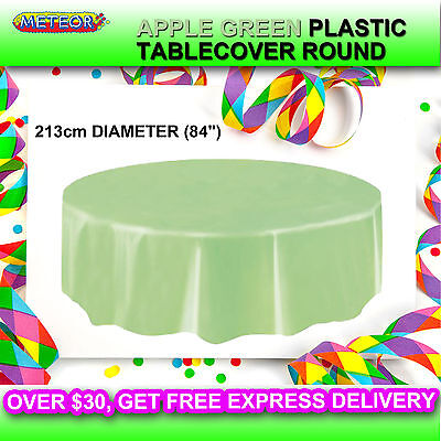 PARTY WEDDING PLASTIC TABLE COVER ROUND 213cm DIAMETER TABLE CLOTH TABLECLOTH