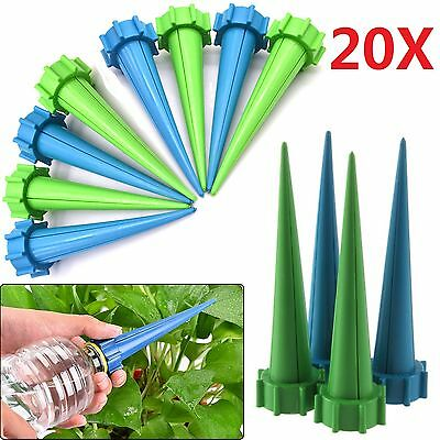 20X Automatic Watering Irrigation Spike Garden Plant Flower Drip Water Sprinkler