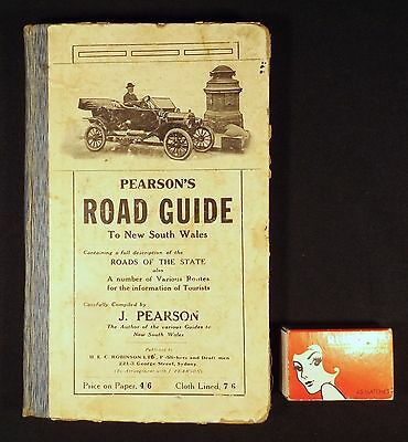 1920's Used Pearson's Road Guide To Nsw Linen Lined Maps H.e.c. Robinson Sydney