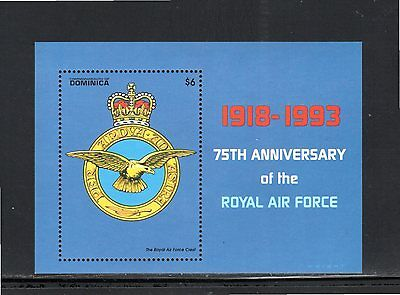 Dominica 1993 75th Anniversary Royal Air Force m/sheet SG MS 1729b MUH
