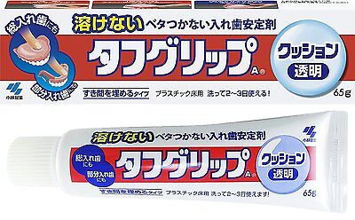 TOUGH GRIP Cushion Grip Total & Parts Denture Adhesive Clear Color 65g Japan