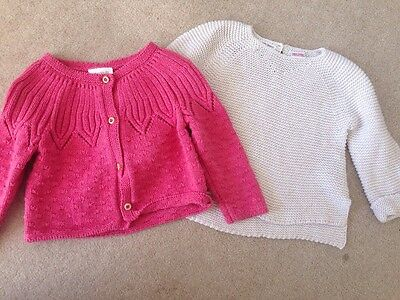 Bundle Baby Girls Knitwear 9-12m Zara And Next