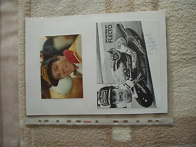 Randy Mamola Autograph HB SUZUKI Texaco Genuine Signed Item
