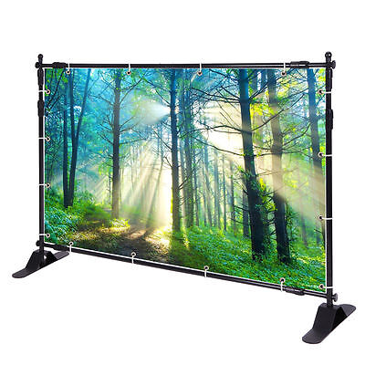 Step and Repeat 8'x8' Banner Stand Adjustable TelescopicTrade Show Backdrop USA