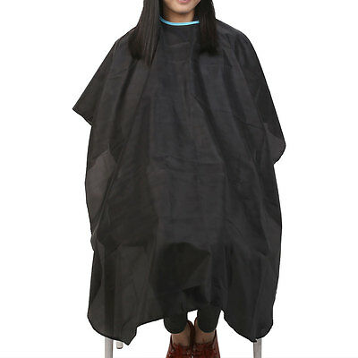 Family Salon Hairdressing Hair Cutting Cape Barbers Gown Black 140x100cm