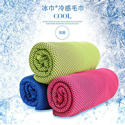 3pcs Ice Cold Enduring Running Towel Jogging Chilly Pad Instant Cooling Sporting