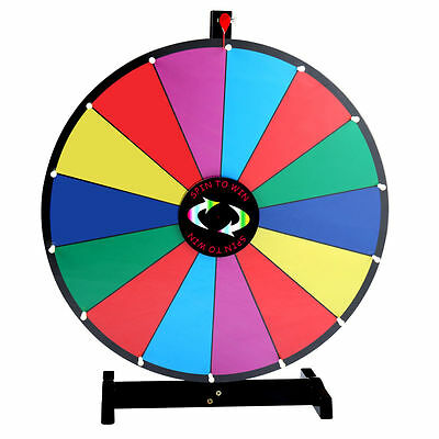 """24"""" Tabletop Color Dry Erase Prize Wheel Fortune Spin Game Tradeshow"""