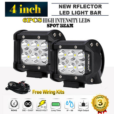 "2x4""INCH 126W PHILIPS LED Work Light Bar Driving Floodlight Offroad 4WD SUV 7"""