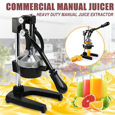 Commercial Manual Juicer Juice Extractor Hand Press Squeezer Orange Citrus Fruit