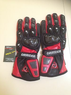 New Dririder Motorcycle Gloves, Size S